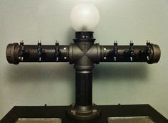 Custom 6 Tap Beer Draft Tower With Globe Light ($1,350) --  TheRusticWhale