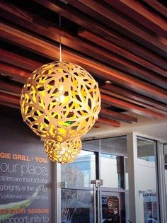 ☆☆☆ SPOTTED ☆☆☆  The David Trubridge lights fantastic (FLORALs) at Veggie Grill! Thanks to Kelly Termin at YLighting for spotting and snapping! #lighting