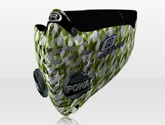 Respro® Skins™ pollution mask - DOGTOOTH Green #matchyourstyle