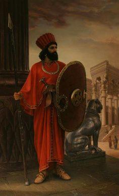 گارد جاویدان ارتش هخامنشی ، نقاشی از ایمان ملکی