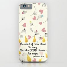 Proverbs 16:9 iPhone & iPod Case