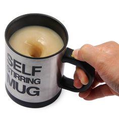 400 ML Self Stirring Double Insulated Plastic Mug