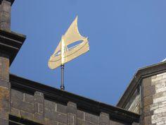 Weathervane of a #boat on top of the tower of the Sint Lievensmonstertoren #Zierikzee #Netherlands