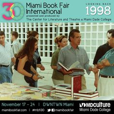 Fairgoers book browsing at Miami Book Fair International, 1998