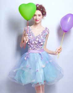 Rochie babydoll cu perle si flori 3D Prom Dresses, Formal Dresses, Baby Dolls, Corset, Ballet Skirt, Skirts, Fashion, Tulle, Bead