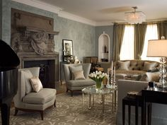 THE PACIFIC HEIGHTS GLAMOUR DECOR IN THIS ELEGANT LIVING ROOM WAS DESIGNED AND DECORATED BY KENDALL WILKINSON,ONE OF MY FAVORITE INTERIOR DESIGNERS!!! Cherie Cullum