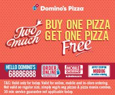 Special Offer For Today Dominos Pizza