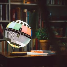 #YatzerRoundup Budapest-born designer Simon Forgacs reimagined the round pattern of classic TV test cards into a globe, and even added a light inside to be used as a lamp. Photo by Bence Szemerey. https://www.yatzer.com/yatzer-roundup-8 #yatzerized #design #interiors #budapest #hungary