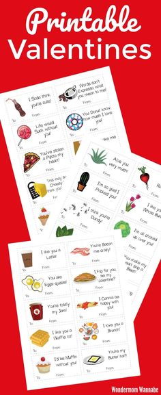 Three sets of very punny printable Valentines, plus clever ideas for making them extra memorable! #Valentines #punny #printables
