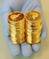 Chocolate gold coins for the candy bar