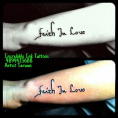 Quotation Tattoo For Girls In Hand Faith Love