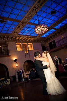 Jessica and George share their first dance at the Hollywood Roosevelt Hotel