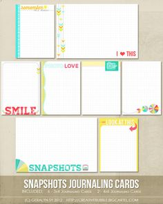 *NEW* Snapshots Journaling Cards (Digital)