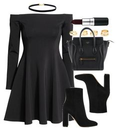 """""""Style #11599"""" by vany-alvarado ❤ liked on Polyvore featuring H&M, Gianvito Rossi, Charlotte Russe and MAC Cosmetics"""