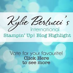 Check out all the amazing Stampin' Up!® projects on my blog and make your vote!! Click on my blog link in my profile to check them out #stampinup #kyliebertucci #stamping #cardmaking #stamps