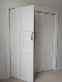 closet doors. How To Make Bifold Doors Into French 2, Wife In Progress On Remodelaholic Closet