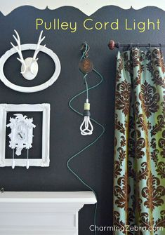 DIY light made with a pulley