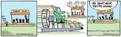 All the Swamp inhabitants are having fun on their airboat! #airboat #swamp #cartoons #crocodile #OldManCroc http://www.swamp.com.au/search.php?s=10163