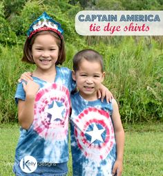 Have a Captain America fan in your house or want a fun shirt to wear for the 4th of July? Make these fun Captain America tie dye shirts!