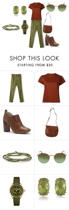 """Untitled #231"" by rosshandmadecrafts ❤ liked on Polyvore featuring Estnation, ED Ellen DeGeneres, Salvatore Ferragamo, Ray-Ban, Michele and Carolee"