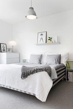 Nice basic white bedroom
