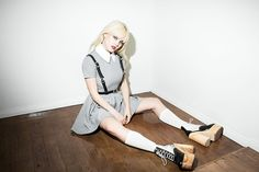 Deandri Dress, Deandri Black Harness, Deandri Wood Shoes