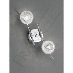 Franklite FL2297/2 Shardice 2 Light Ceiling/Wall Light Polished Chrome