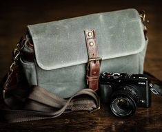 The Bowery bag in premium waxed canvas.