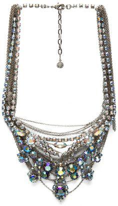 TOM BINNS Silver Multi Chain Necklace - Lyst