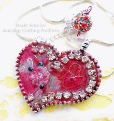 My SweetHeart Valentine... AMAZING Freeform Pendant by Maria Soto