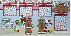 2 Premade Scrapbook Pages 12x12 Layout Paper Piecing Christmas Gingerbread Boy Girl Handmade Elite4U