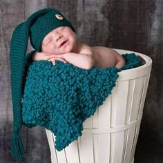 Crochet newborn baby elf hat, newborn photography prop, uk seller, handmade item £10.00