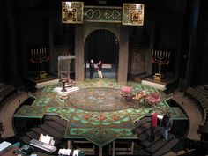The beautiful set of Camelot, Stratford 2011. Designer is Debra Hanson