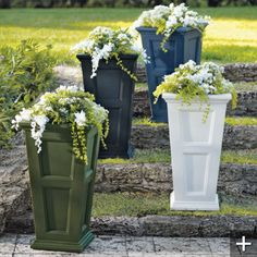 I love these tall planters. They are simple and beautiful.