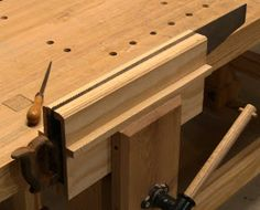 This simple saw vise took about 30 minutes to build from scraps. The upper and lower spacers provide clearance for saw handles and backsaw ...