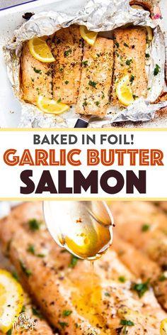 Baked Lemon Garlic Butter Salmon