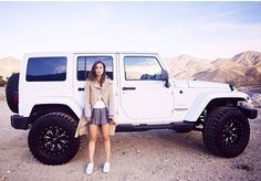 White Jeep Wrangler Unlimited (*cough* hey parents look at this *cough*)