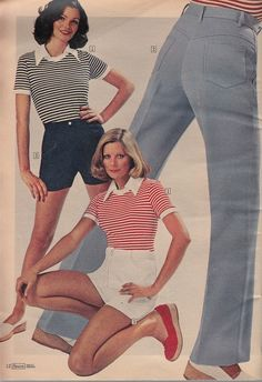 Hot Pants again! Last time we looked at Hot Pants, we entered some kind of weird time travel loop where the past wrote the future . Hot Pants, 80s Fashion, The Past, Capri Pants, Magazine, Capri Trousers, Magazines, Warehouse, Newspaper