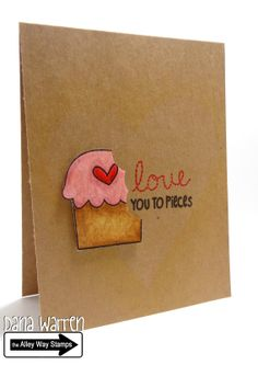 The Alley Way Stamps - Designer Dana Warren - In Stitches, Hey Cupcake, Clear Stamps, TAWS