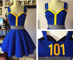 "Fallout ""Vault 101"" inspired pin-up dress"