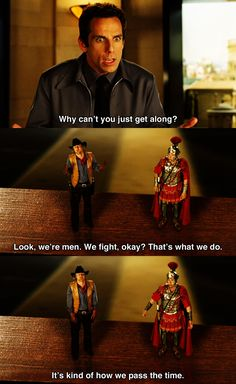 Why can't you just get along? ~ Night at the Museum (2006) ~ Movie Quotes #amusementphile