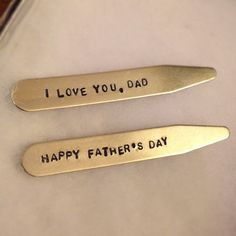 Made In USA 2.5 Inch Metal Collar Stiffeners MODERN GOODS SHOP Stainless Steel Collar Stays With Laser Engraved Heart In Hand Design