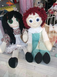 our lovely rag dolls.. we also have a great rang of boys and girls rag dolls in the shop £25 each