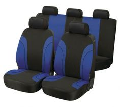 Autositzbezug Paris blau/schwarz