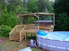 #INTEX Pool with deck
