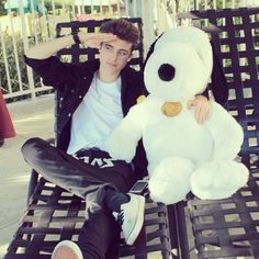 Chris Collins chillin with Snoopy