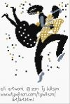 Free and good quality counted cross stitch patterns to print. Counted Cross Stitch Patterns, Cross Stitch Embroidery, Black Dancers, Wilson Art, Simple Art, Christmas Snowman, Couple Fun, Fun Music, Needlework