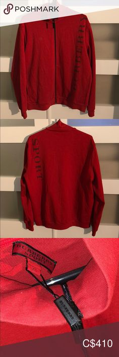 ⚜️Flash Sale⚜️ Red Burberry Sport Sweater / Jacket 100% authentic. In like new condition. Size XL. This is a very very nice sweater/jacket. It fits perfectly and looks great open or closed. Only 1 small flaw is the tag as you can see in picture 3, this is why the price is so low.  ⚜️Feel Free To Drop An Offer All Are Welcome⚜️ Burberry Jackets & Coats Plus Fashion, Fashion Tips, Fashion Design, Fashion Trends, Burberry Jacket, Cool Sweaters, Sweater Jacket, Looks Great, Drop