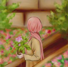Cartoon Girl Images, Girl Cartoon, Cartoon Art, Cute Pastel Wallpaper, Girl Wallpaper, Hijab Drawing, Islamic Cartoon, Anime Muslim, Hijab Cartoon