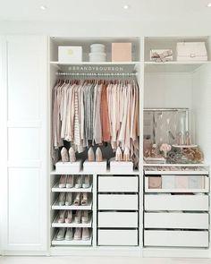 Wardrobe Room, Wardrobe Design Bedroom, Closet Bedroom, Master Closet, Wardrobe Ideas, Ikea Closet System, Ikea Pax Closet, Walk In Closet Ikea, Ikea Closet Storage